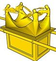 Ark des Verbonds met vier cherubs